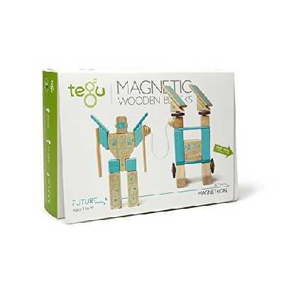 Tegu Jeu de Construction - Ensemble Futur MAGNETRON - Blocs de bois Magnétiques - 32 pièces