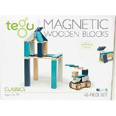 Tegu : Classic 42 Pièces - Bleu - Asmokids - Jeu de construction