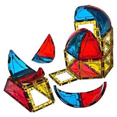 Playmags 28pcs 3D Blocs magnétiques pour Les Enfants - en Savoir Formes, Couleurs, et Alphabet STEM Jouets magnétiques Développer Les compétences et la créativité Moteur