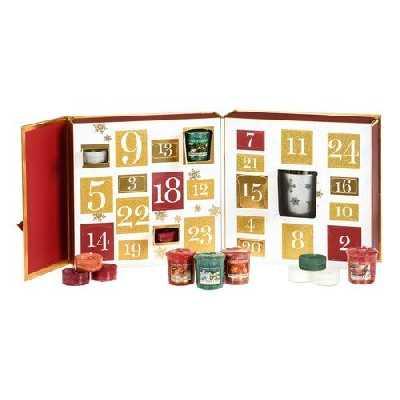Yankee Candle Calendrier de l'Avent Livre de Noël, Rouge