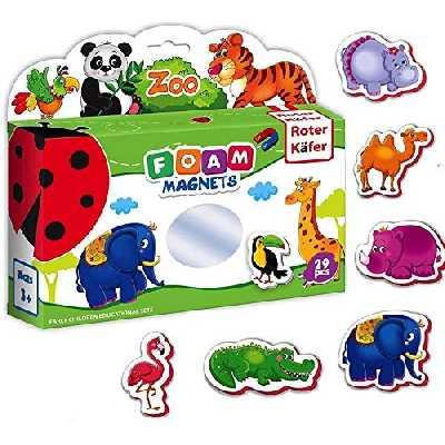 Roter Käfer Magnet Animaux Enfant La JUNGLE 29 pcs - jouet animaux de la jungle - Aimant enfant frigo - Magnet enfant Magnet frigo enfant Aimant frigo enfant - Jeux magnetique enfant 2 ans