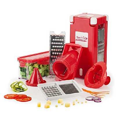 Genius Nicer Dicer Magic Cube Smart | Mandoline 12 en 1 Multifunction Professionelle | Trancheuse | couper- / râpé- / éplucher- / cubes- / quartier- / spirale-s manger- / légumes | Slicer | Cuisine