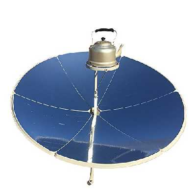 HUKOER Cuiseur Solaire 1.5m de diamètre 1800W Portable cuisinière Solaire parabolique avec Une Plus Grande efficacité, Cuisinière Solaire, Four Solaire, Gril à Usage Familial, Faire bouillir