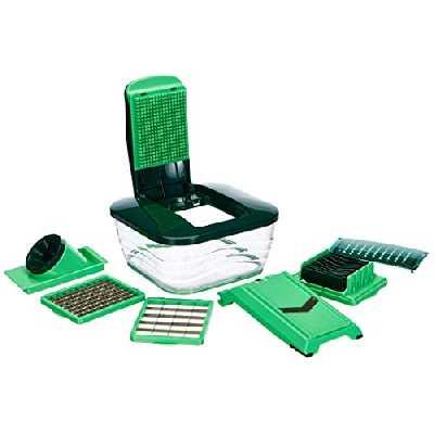 NICER DICER DICERCHEF01 La Nouvelle Version Chef pour Encore Plus de Plaisir en cuisinant sainement et Rapidement, Vert