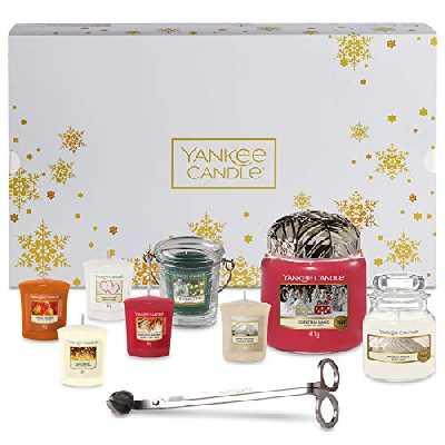 Yankee Candle coffret cadeau de Noël avec bougies parfumées et accessoires, coffret de 11 pièces