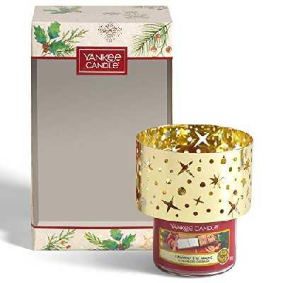 Yankee Candle coffret cadeau de Noël composé de 2jarres, 12lumignons et 6bougies votives parfumées