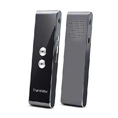 Teekit Translaty MUAMA Enence Smart Instant Real Time Translaty Translator Vocal Portable, Silver, Small