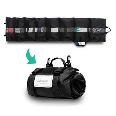 HANG&ROLL - Organiseur de voyage | Système de rangement | Rangement de vêtements | Accessoires | Sac à vêtements | Cube de rangement | Organisateur de vêtements (Bleu)