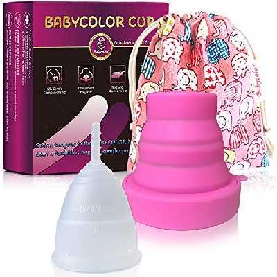 Coupe Menstruelle en Silicone – Transparente Réutilisable Flexible Menstrual Cup – Bio Coupe Menstruel Taille S