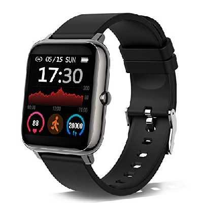 Montre Connectée Femmes Homme, 1,4 Pouces Montre Intelligente Smartwatch avec Moniteur de fréquence Cardiaque, Montre Sport avec Podometre Calories Sommeil Chronometre, Écran Coloré Bracelet Connecté