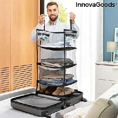 InnovaGoods Etagère Pliable Organiseur Portable pour Bagages Sleekbag