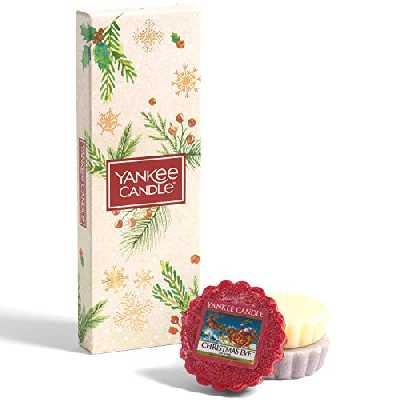 Yankee Candle Coffret cadeau | Bougies de Noël parfumées | 3 tartelettes de cire parfumées | Collection Magical Christmas Morning