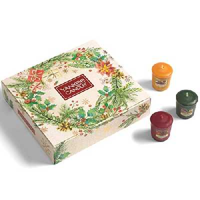 Yankee Candle Coffret cadeau | Bougies parfumées de Noël | 12 bougies votives | Collection Magical Christmas Morning