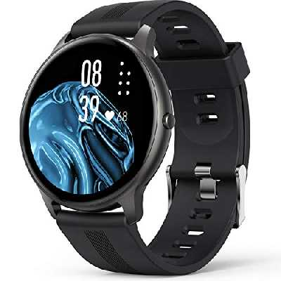 AGPTEK Montre Connectée Homme, Smartwatch Bluetooth 5.0 Sport Etanche IP68 Bracelet Connecté Fitness avec Tensiometre Fréquence Cardiaque Podomètre Contrôle de la Musique pour iOS et Android-Noir
