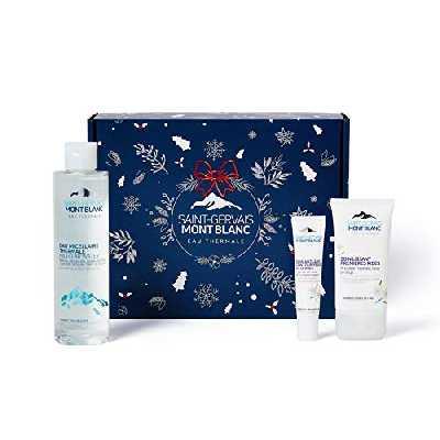 Coffret cadeau Noël beauté - Routine Soin visage femme - eau thermale, acide hyaluronique, Edelweiss Alpin Bio - Saint-Gervais Mont Blanc