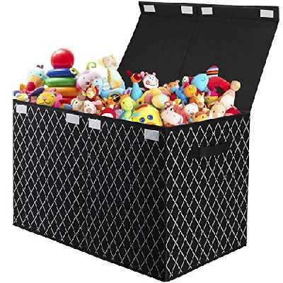 Boîte de rangement pliable pour enfants avec couvercle pour jouets, vêtements, livres, penderie, chambre d'enfant